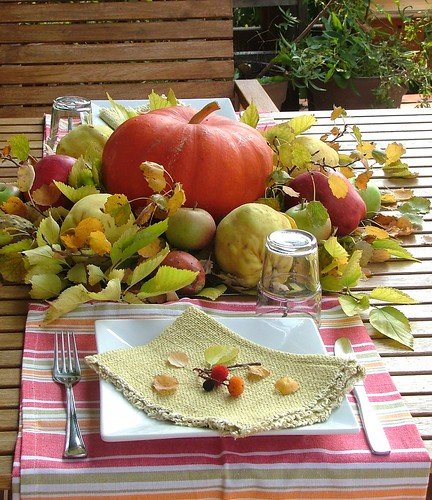 Autumn tablescape,