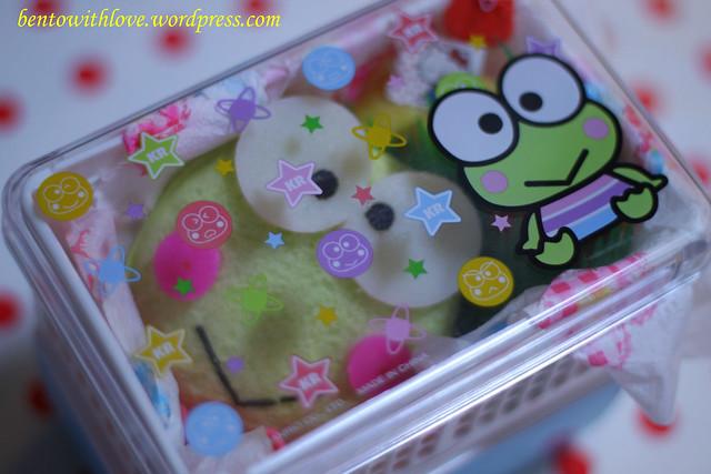 Keroppi Bento in Keroppi Lunchbox