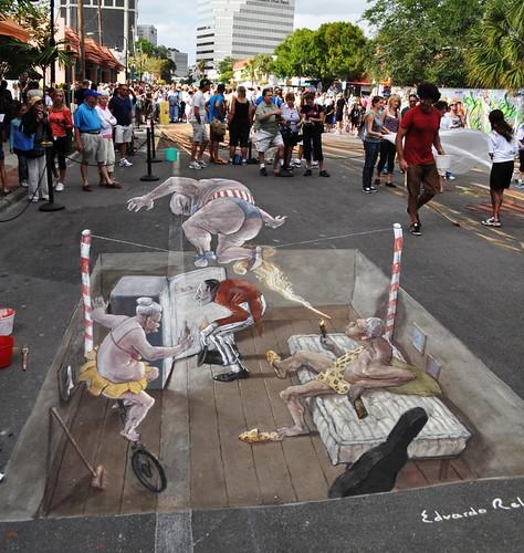 Day 6 at the Chalk Festival in Sarasota, Fla., Nov. 6, 2011, by Edvardor Relero