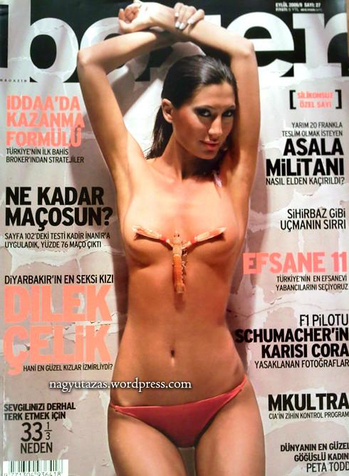Majdnem teljesen meztelen török címlaplány