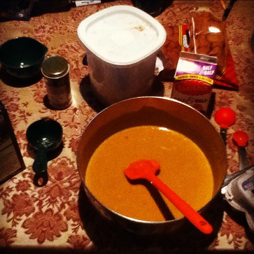 Pumpkin Pie filling!