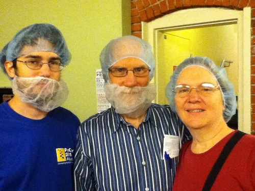 David, Dad and Mom all ready for the Theo Chocolate Factory tour!