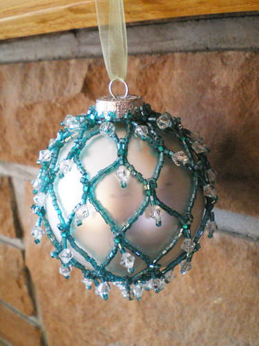Netted Christmas Ornaments