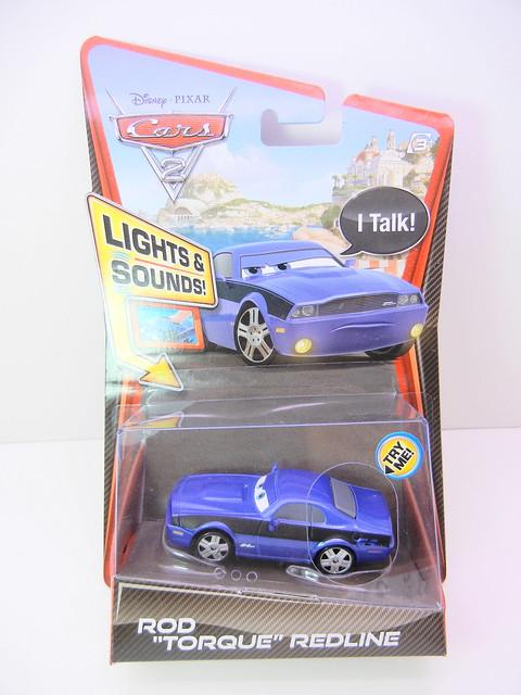 DISNEY CARS 2 LIGHTS AND SOUNDS ROD TORQUE REDLINE