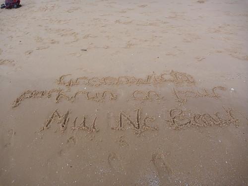Greenwich parkrun on tour Mui Ne Beach