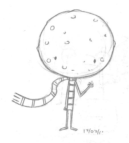 Esboço do Menino Lua mais proporcional