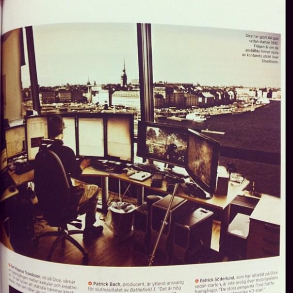 Helt ok kontorsplats på Dice (i senaste numret av Icon)