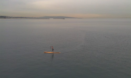 Stand up and paddle on the Pacific lake