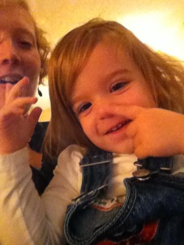 Button found her nose!