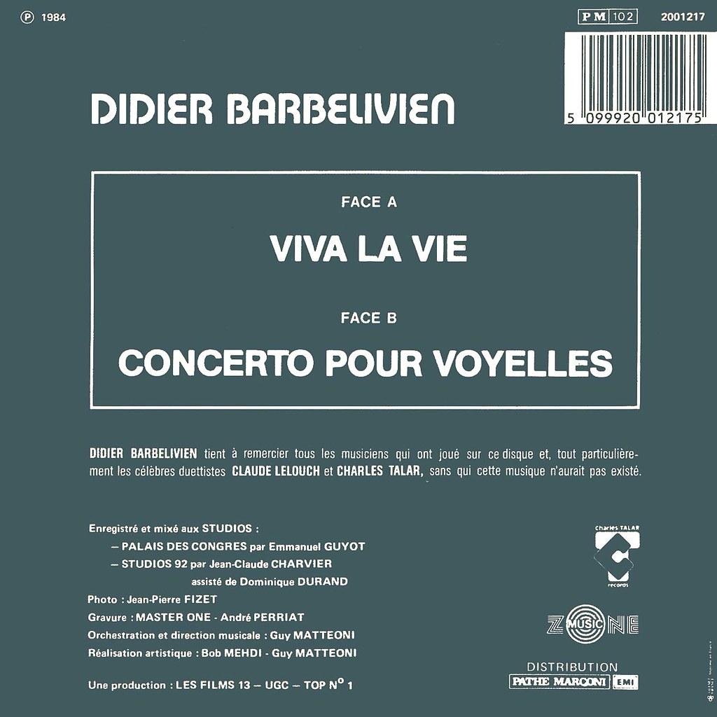 Didier Barbelivien - Vive la vie