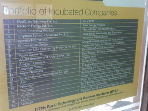 RTBI portfolio