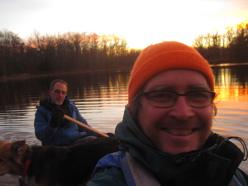 Tony Santucci and I enjoy a gorgeous dusk paddle.