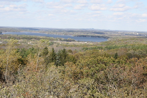 view from Lapham Peak Holy Hill in distance