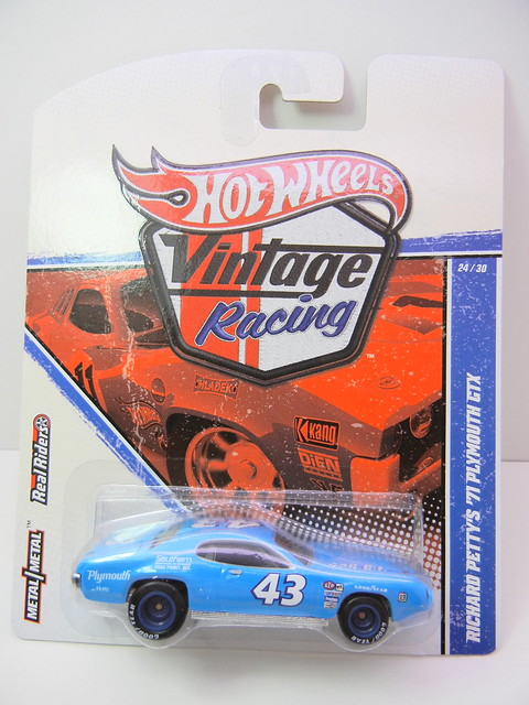 HOT WHEELS VINTAGE RACING RICHARD PETTY'S '71 PLYMOUTH GTX (1)