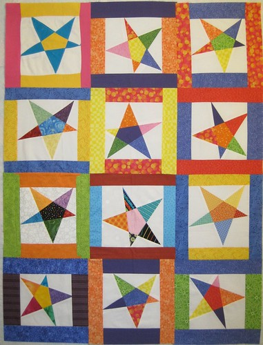 Stars For Linus Quilt Top #1