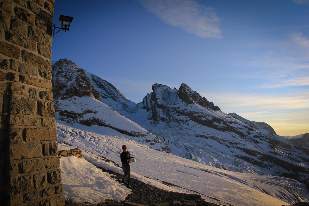 Dusk at The Blüemlisalphütte (2840m)