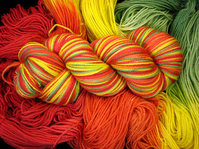 Bell Pepper Medley - Tiger Twist Hand Painted Sock Yarn