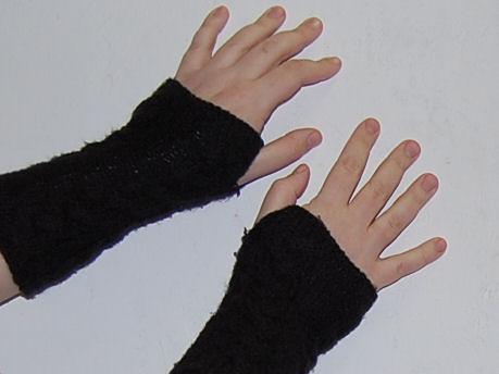 polswarmers zwart