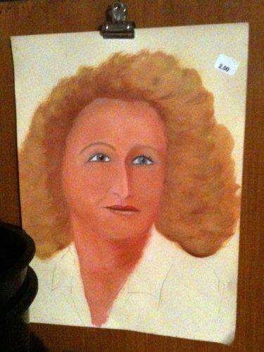 Portrait of blonde lady