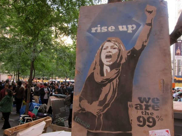 Occupy Wall Street: Day 31, Zuccotti Park, Rise Up, by lmnop