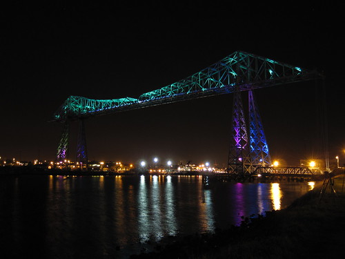 Transporter Bridge Light Show