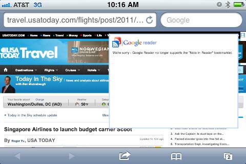 RIP: Google Reader No Can Share
