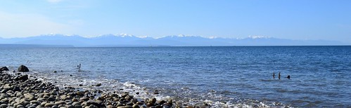 Olympic Mountains from Fort Ebey State Park