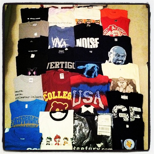 Some of the 30 t-shirts I'm getting rid of. #theRIDproject