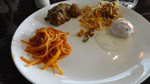 Non-veg main course at Cafe Masala
