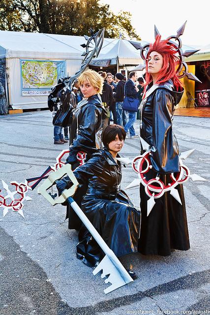 Roxas, Xion, Axel, Organization XIII cosplay
