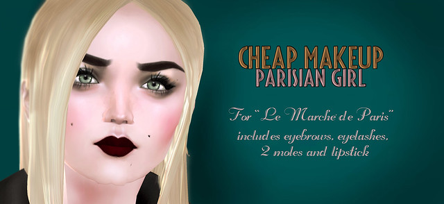 Cheap Makeup Parisian Girl