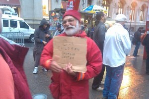 Santa Claus at Occupy Wall Street?