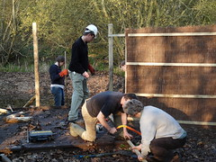 "Oxford Conservation Volunteers building the bird hide, November 2011 • <a style=""font-size:0.8em;"" href=""http://www.flickr.com/photos/60890513@N06/6884333156/"" target=""_blank"">View on Flickr</a>"