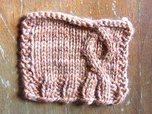 tiny sweater swatch