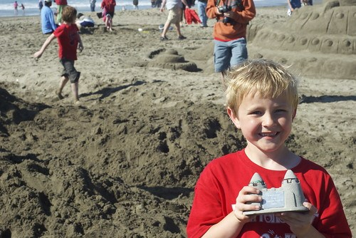 Ocean Beach sandcastle contest