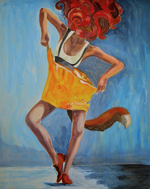 A dancing fox spirit in form of a woman...