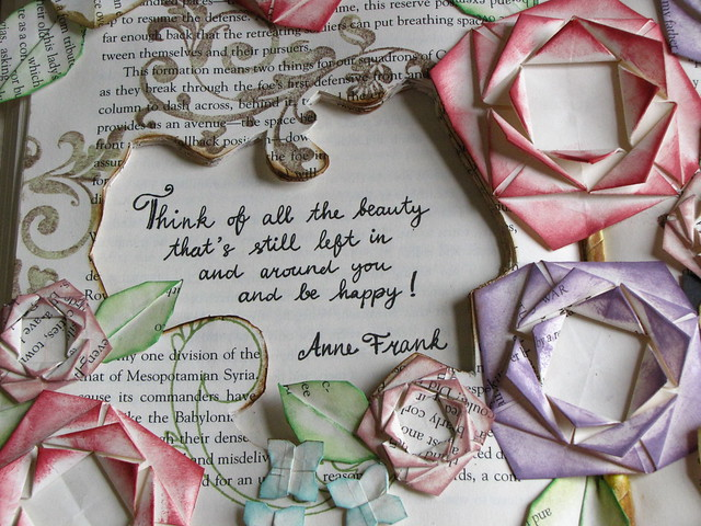 Anne Frank's saying on my altered book