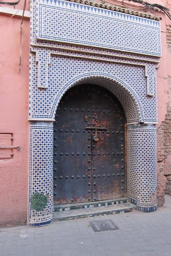 Marrakech tiled doorway Morocco