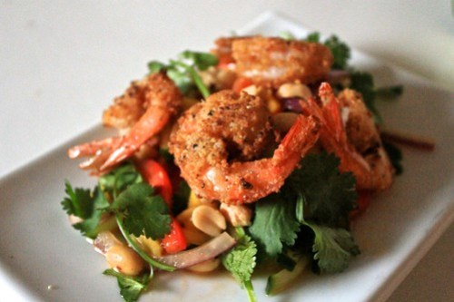 Almond Crusted Shrimp and Mango Salad (II)