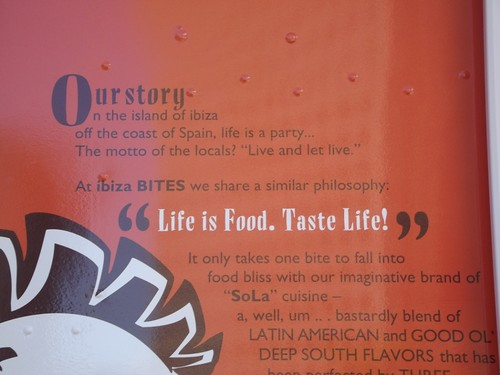 Life is Food. Taste Life. Ibiza Bites