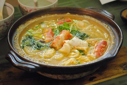 crab udon soup