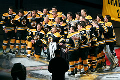 Boston Bruins with Stanley Cup