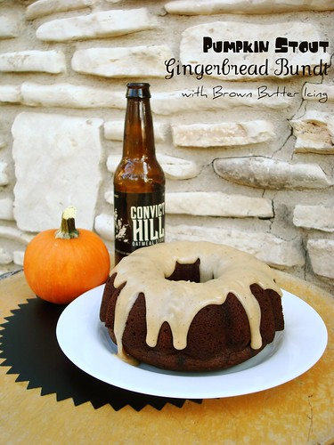 Pumpkin Stout Gingerbread Bundt with Brown Butter Icing