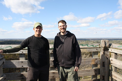 Dan and Craig at Lapham Peak tower
