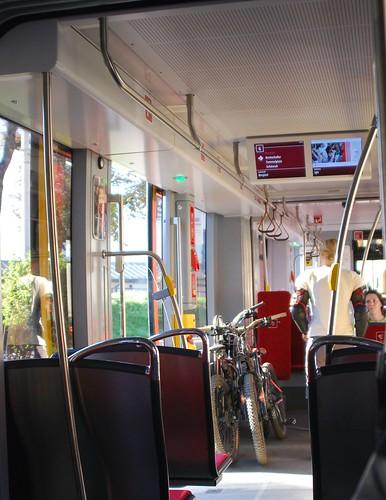Bikes on an Innsbruck tram