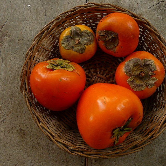 Hachiya and Fuyu persimmons