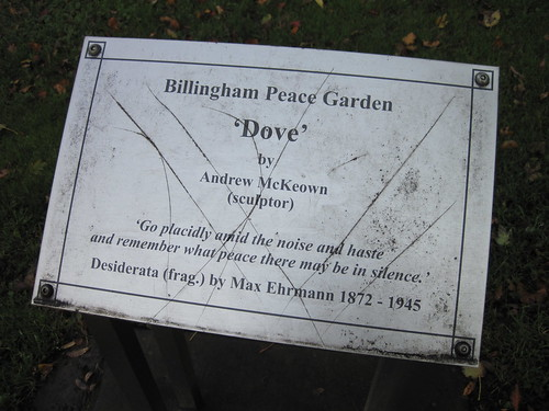 Billingham Peace Garden Dove