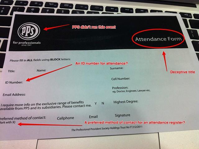 PPS Attendance Register