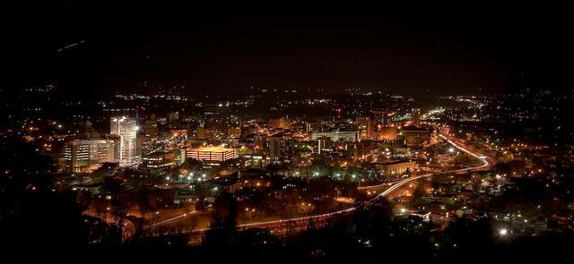 Asheville at Night