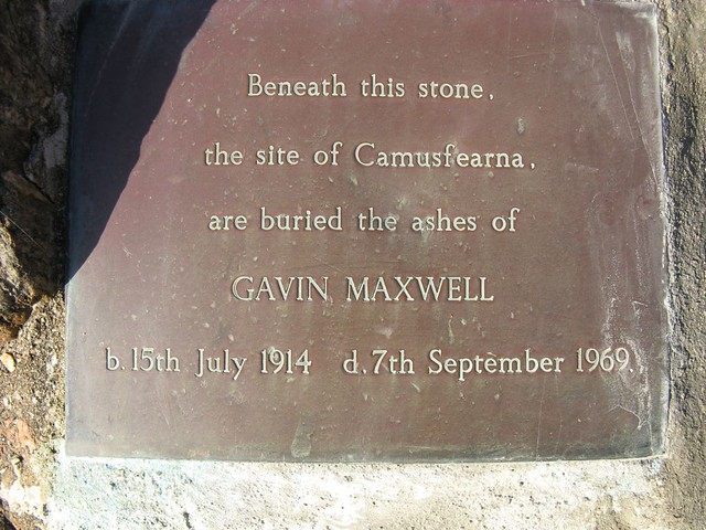 Memorial to Gavin Maxwell at Sandaig